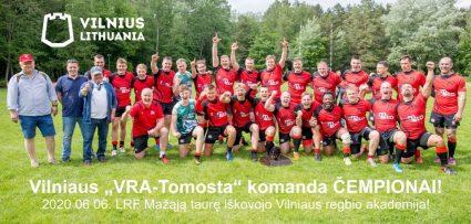 """LRF R-15 Taurės čempionate """"VRA-Tomosta"""" komanda iškovojo TAURĘ. S. Čirbos nuotrauka."""