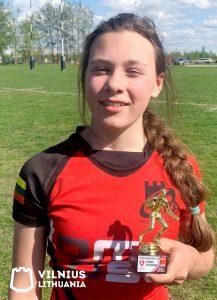 Geriausiu žaidėju varžybose išrinktas – Erika Krokovskytė
