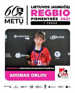 Geriausiu žaidėju varžybose išrinktas – Adomas Arlov
